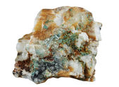 A sample of ore quartz and native gold — Photo
