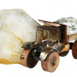 Stock Photo: Crystal of quartz and the truck with ore
