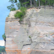 Battleship Rock of Pictured Rocks National Lakeshore — Stock Photo
