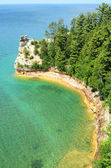 Miners Castle at Pictured Rocks National Lakeshore — Stock Photo