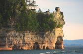 Lake View of Miners Castle at Pictured Rocks National Lakeshore — Stock Photo