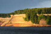 Bridal Veil Falls at Pictured Rocks National Lakeshore — Stock Photo