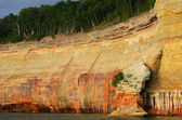 Cliff at Pictured Rocks National Lakeshore — Stock Photo
