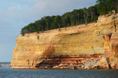 Cliff Wall at Pictured Rocks National Lakeshore — Stock Photo