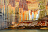Streaked Cliff of Pictured Rocks National Lakeshore — Stock Photo