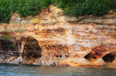 Sea Caves at Pictured Rocks National Lakeshore — Stock Photo