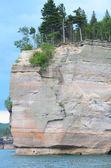 Battleship Rock of Pictured Rocks National Lakeshore — Stock Photo