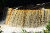 Upper Tahquamenon Falls near Paradise Michigan — Stock Photo