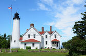 Point Iroquois Lighthouse in Upper Michigan — Stock Photo