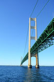 Under the Mackinac Bridge — 图库照片