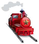 Red locomotive — Stock Photo