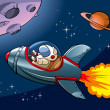 Cartoon spaceship - Imagen vectorial