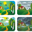 Royalty-Free Stock Vector Image: Weather landscapes