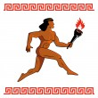 Stock Vector: Ancient Greek athlete