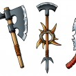 Fantasy weapons — Stock Vector