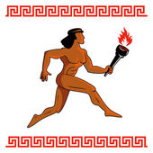 Ancient Greek athlete — Stock Vector