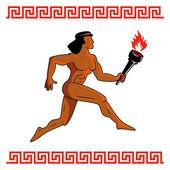 Ancient Greek athlete — Stock Vector