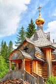 Wooden orthodox church — Stock Photo