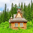 House in a wood - Stock Photo