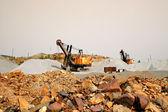Excavators in a quarry — Foto de Stock