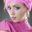 Young woman in pink — Stock Photo