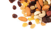 Raisins and nuts corner — Stock Photo
