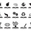 Books concept icons set — Stock Vector #10814006