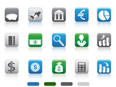 Square button of simple Finance and Banking icons set — 图库矢量图片