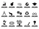 Books concept icons set — Stock Vector