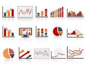 Einfache farbsymbol finanzmanagement berichte — Stockvektor
