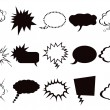 Speech bubbles icons set — Stockvektor