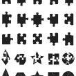 Black jigsaw Puzzle Pieces icon — Stock Vector