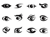 Abstract eyes icon set — Stock Vector
