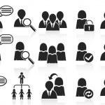 Black social symbol icons set — Stock Vector #11455957