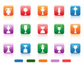 Champion cup buttons icon — Stock Vector