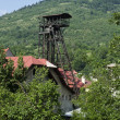 Постер, плакат: Mining tower at Ferdinand shaft in Kremnica Slovakia
