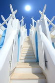 Stairs to the sun, Santorini, Greece — Stock Photo