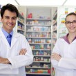 Portrait of pharmacists at pharmacy — Stock Photo #10958851