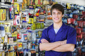 Portrait of the owner of a home improvement stores — Stock Photo