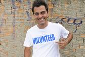 Happy male volunteer — Stock Photo