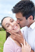 Hispanic couple in love — Stock Photo