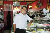Small business: owner of a cafe — Photo