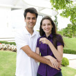 Homeowner: Couple buying a new house — Stock Photo