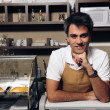 Portrait of a waiter at the cafe — Stock Photo