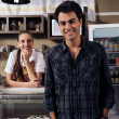 Owner of a cafe and waitress — Stock Photo #11218301