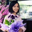 Small business owner: womand her flower shop — Stock Photo #11218661