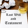 Last Will and Testament — 图库照片