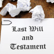 Royalty-Free Stock Photo: Last Will and Testament