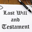 Last Will and Testament — Stock Photo #11218866