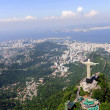 Stock Photo: Christ Redeemer Statue and Sugarloaf Mountain in Rio de Janeiro, Brazil
